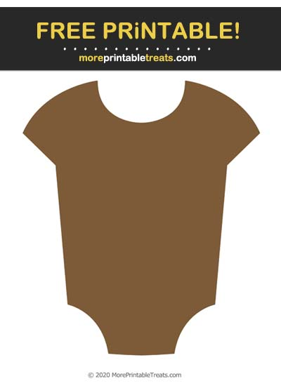 Free Printable Brown Baby Onesie Cut Out