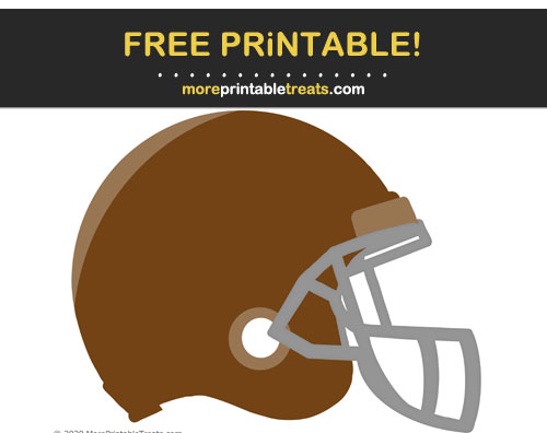 Free Printable Brown Football Helmet Cut Out