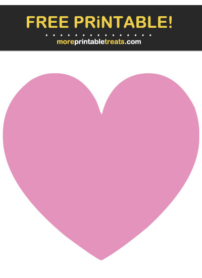 Free Printable Bubblegum Pink Heart