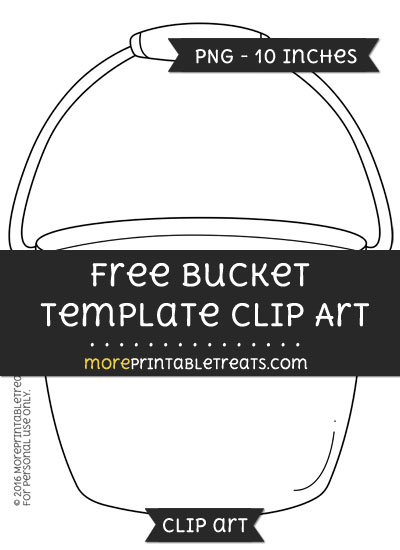 Free Bucket Template - Clipart