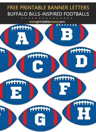 Free Printable Buffalo Bills-Inspired Football Alphabet