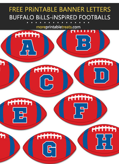 Free Printable Buffalo Bills-Inspired Football Bunting Banner
