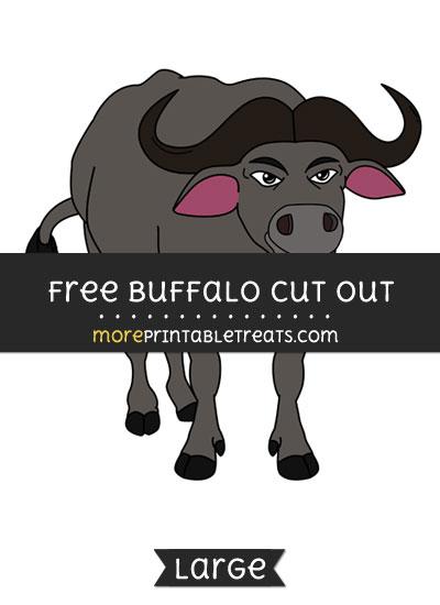 Free Buffalo Cut Out - Large size printable