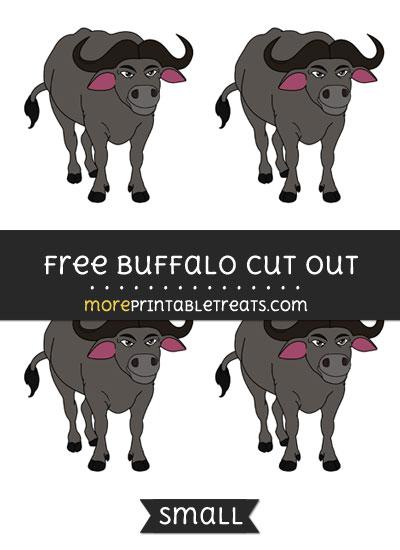 Free Buffalo Cut Out - Small Size Printable