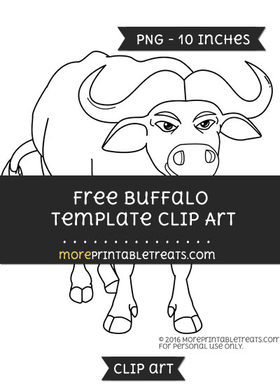 Free Buffalo Template - Clipart