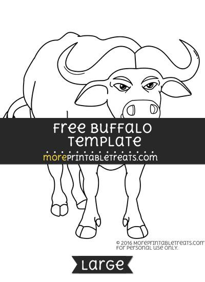 Free Buffalo Template - Large