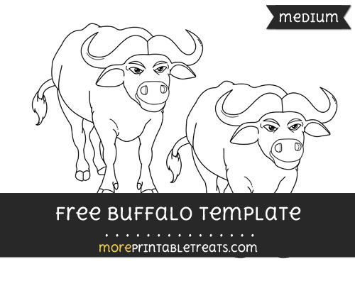 Free Buffalo Template - Medium