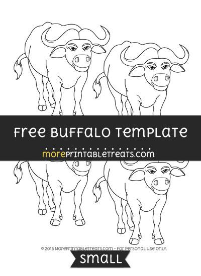 Free Buffalo Template - Small