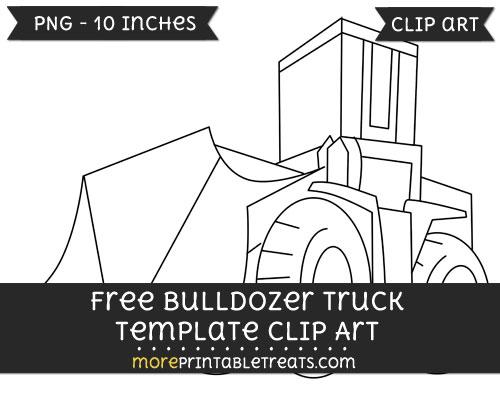 Free Bulldozer Truck Template - Clipart