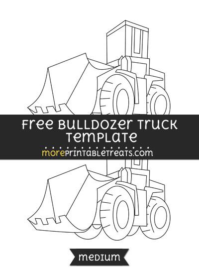 Free Bulldozer Truck Template - Medium
