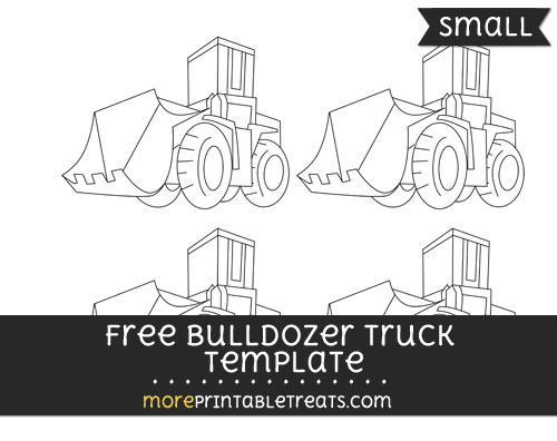Free Bulldozer Truck Template - Small