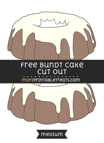Free Bundt Cake Cut Out - Medium Size Printable