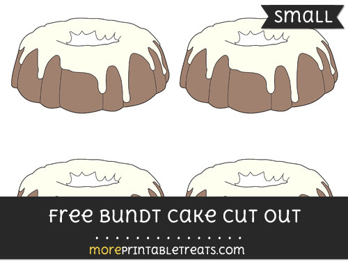 Free Bundt Cake Cut Out - Small Size Printable