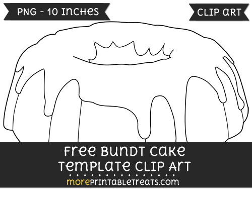 Free Bundt Cake Template - Clipart