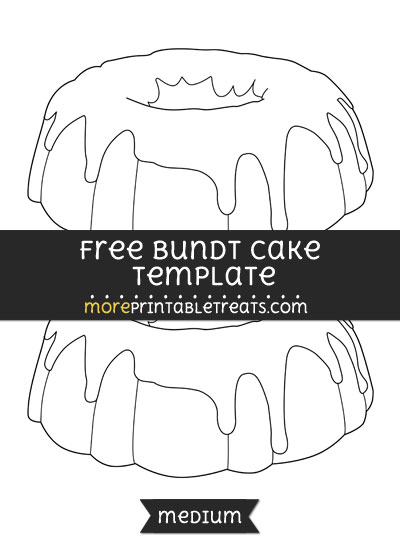 Free Bundt Cake Template - Medium
