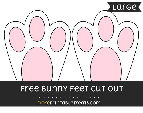 Free Bunny Feet Cut Out - Large size printable