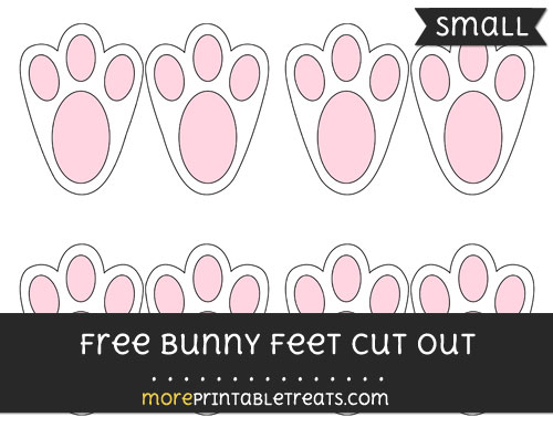 Free Bunny Feet Cut Out - Small Size Printable