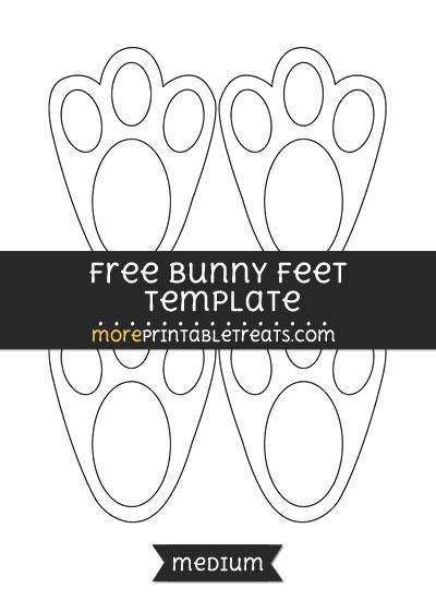 Free Bunny Feet Template - Medium