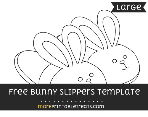 Free Bunny Slippers Template - Large