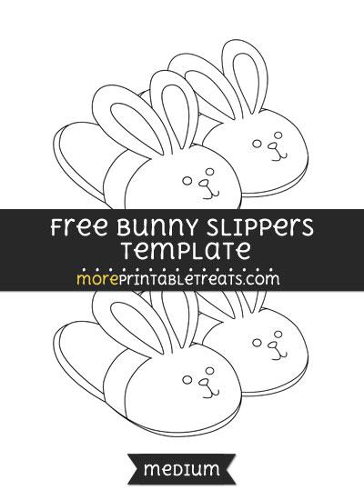 Free Bunny Slippers Template - Medium