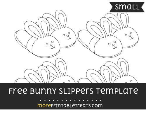 Free Bunny Slippers Template - Small