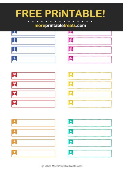 Free Printable Bunting Flag Planner Labels