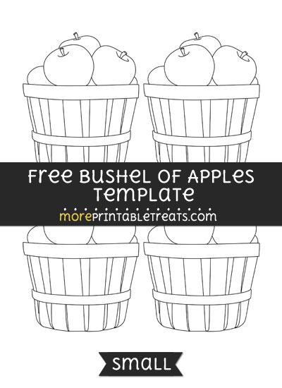 Free Bushel Of Apples Template - Small