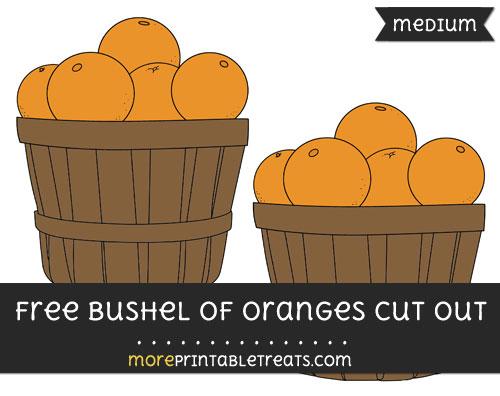 Free Bushel Of Oranges Cut Out - Medium Size Printable