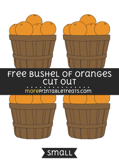 Free Bushel Of Oranges Cut Out - Small Size Printable