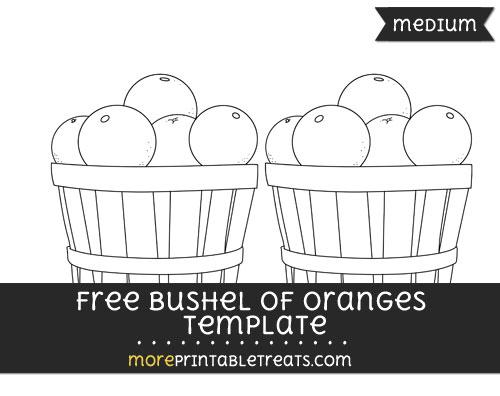 Free Bushel Of Oranges Template - Medium