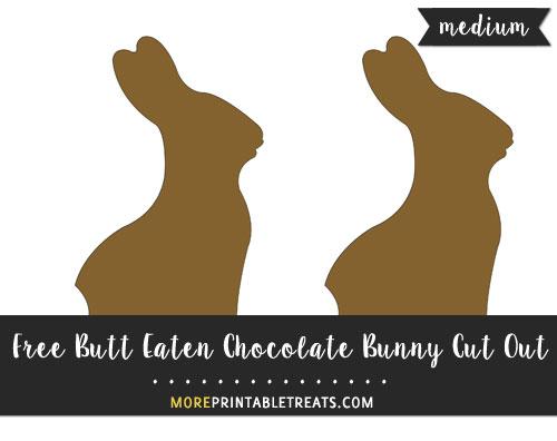 Free Butt Eaten Chocolate Bunny Cut Out - Medium