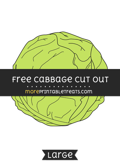 Free Cabbage Cut Out - Large size printable