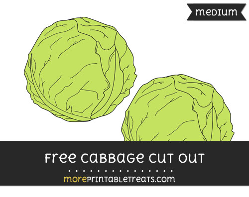 Free Cabbage Cut Out - Medium Size Printable