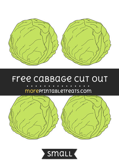 Free Cabbage Cut Out - Small Size Printable