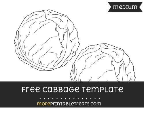 Free Cabbage Template - Medium