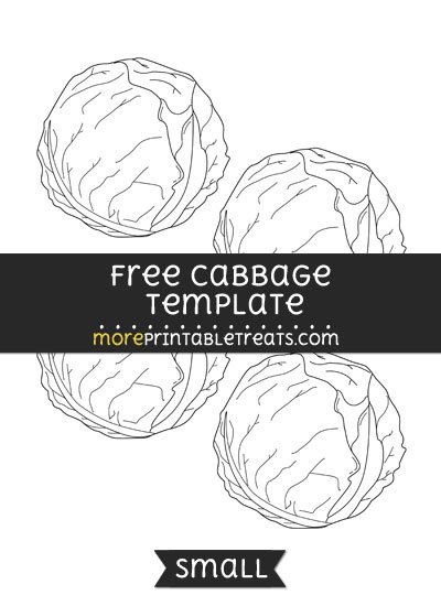 Free Cabbage Template - Small