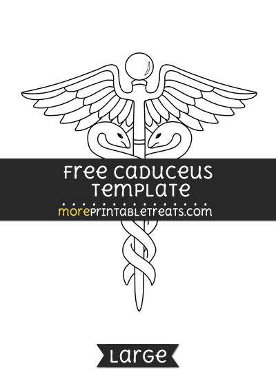 Free Caduceus Template - Large