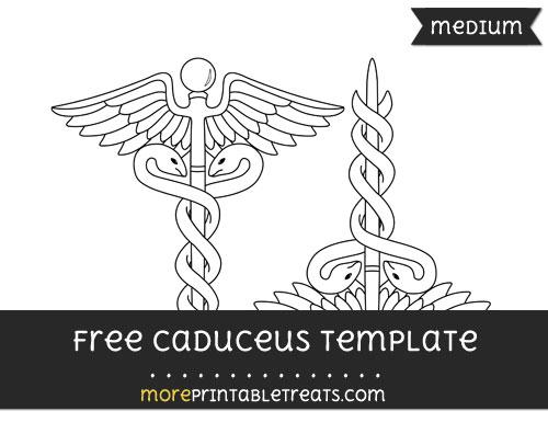 Free Caduceus Template - Medium