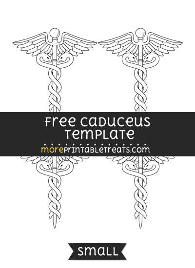 Free Caduceus Template - Small
