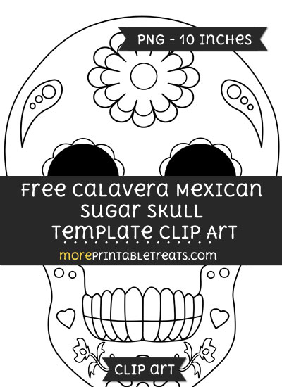 Free Calavera Mexican Sugar Skull Template - Clipart