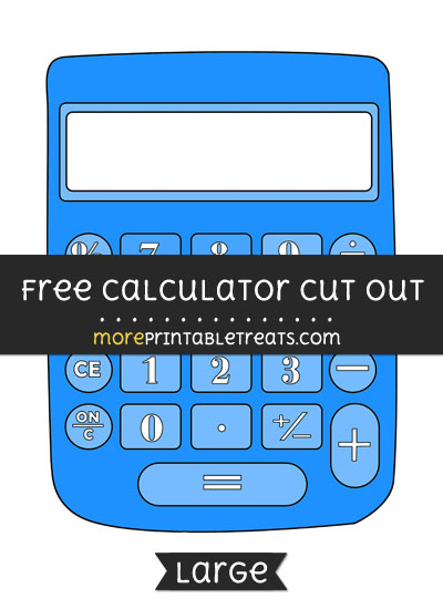 Free Calculator Cut Out - Large size printable