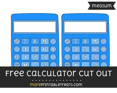 Free Calculator Cut Out - Medium Size Printable