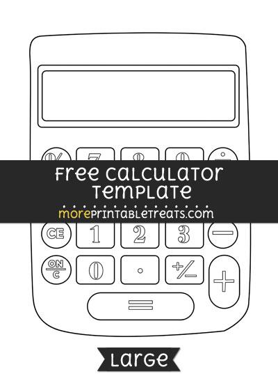 Free Calculator Template - Large