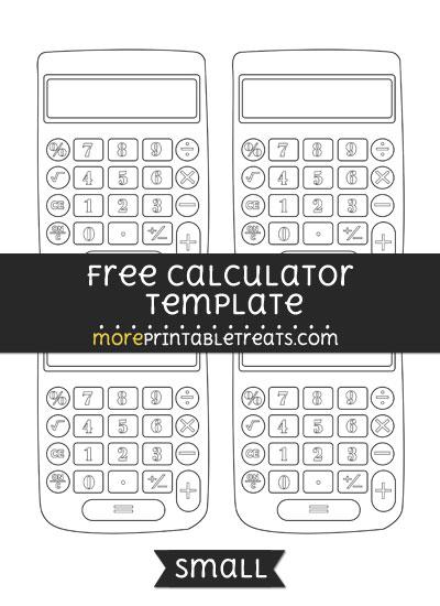 Free Calculator Template - Small
