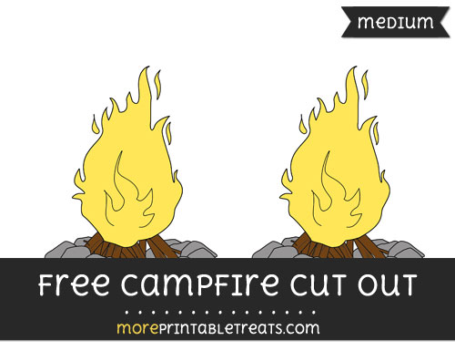 Free Campfire Cut Out - Medium Size Printable