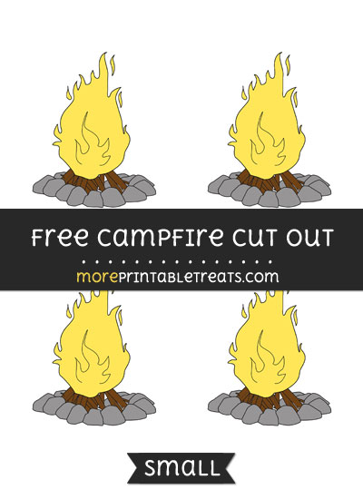 Free Campfire Cut Out - Small Size Printable