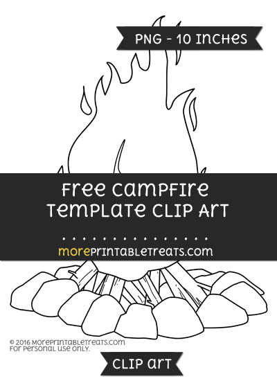 Free Campfire Template - Clipart