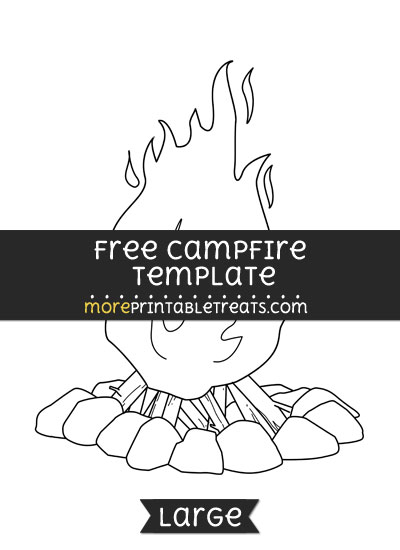 Free Campfire Template - Large