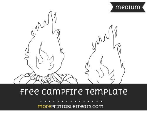 Free Campfire Template - Medium