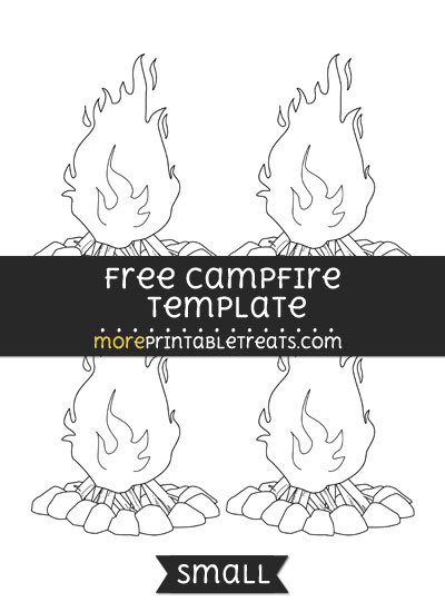 Free Campfire Template - Small